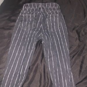 PACSUN BLACK STRIPED PANTS